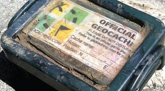 Geocaching involves treasure hunting