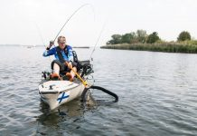 Kayaking in New Zealand with kayak fish finder
