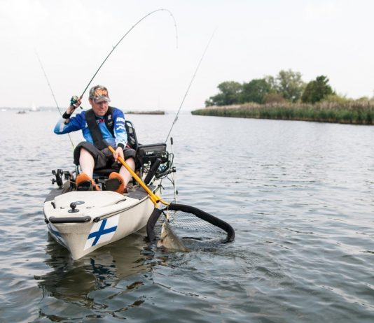 Kayaking in New Zealand with kayak fish finder