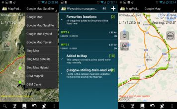 Utilizing GPS maps for road trips