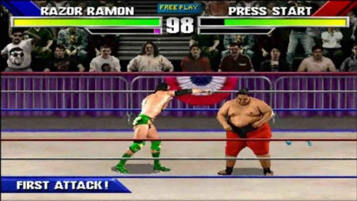 Legends of Wrestlemania, an arcade style wrestling game